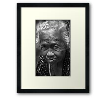 Old Lady Framed Print