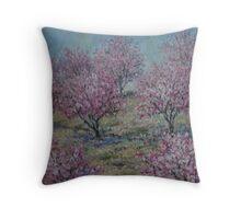 Apricot Trees Throw Pillow