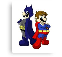 Mario Bros Super Heroes Canvas Print