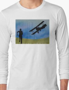 North by North West Hitchcock Homage Collage Impression Long Sleeve T-Shirt