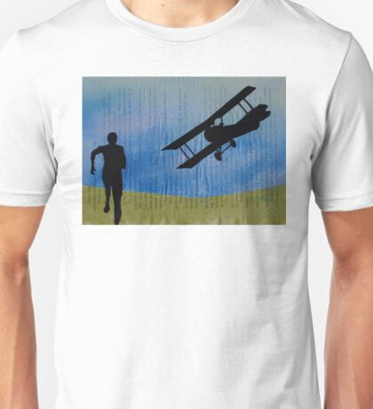 North by North West Hitchcock Homage Collage Impression Unisex T-Shirt