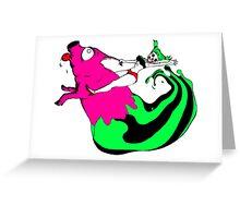 Bacon Rider Greeting Card