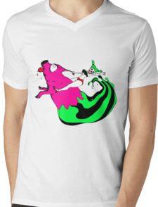 Bacon Rider Mens V-Neck T-Shirt