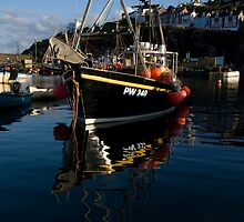 Boat in Mevagissey Harbour by Andy Stafford