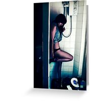 In the Shower Greeting Card