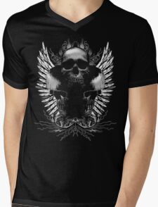 Ornate Skulls Mens V-Neck T-Shirt