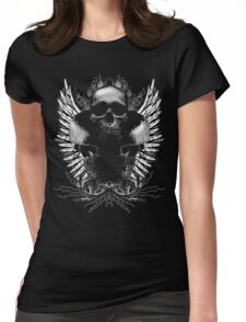 Ornate Skulls Womens Fitted T-Shirt