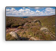 Moors above Glossop Canvas Print