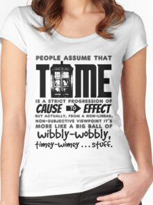 Wibbly-Wobbly Timey-Wimey...Stuff. Women's Fitted Scoop T-Shirt