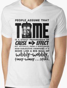 Wibbly-Wobbly Timey-Wimey...Stuff. Mens V-Neck T-Shirt