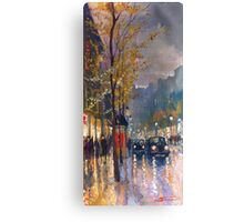Prague Old Street Vaclavske Square 01 Canvas Print