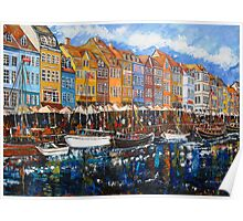 Nyhavn market #1. rightside Poster