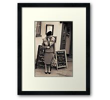 Waiting for my (army) sweetheart Framed Print