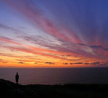 Cornwall: Watching the Sunset at Boscastle by Rob Parsons