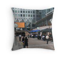 Time I - Canary Wharf, London, England Throw Pillow