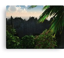 "Planet ""Gloss""02: Island Rim (Collaboration with Owlspook) Canvas Print"