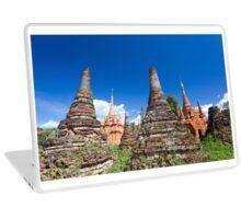 'sunken' stupas of Sagar, Inle Lake, Myanmar Laptop Skin