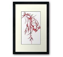 Red Bee, in a Blender Framed Print
