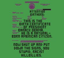 Obama's Birth Certificate by Reed Braden