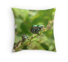 Birds Do It, Bees Do It , Japanese Beetles Do It!!! Throw Pillow