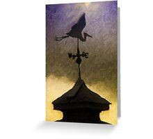 Weathervane I  /  Heron  /  South Carolina Greeting Card