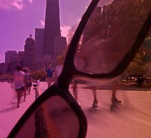 Chicago Bike path and sunglasses by Sven Brogren