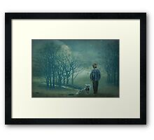 The boy who cried wolf Framed Print