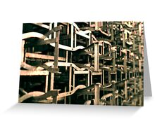Rack and stack. Greeting Card