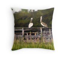 Pelican Point  /  South Carolina Throw Pillow