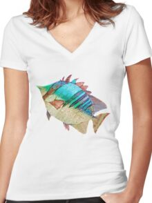 A Rainbow Fish Women's Fitted V-Neck T-Shirt