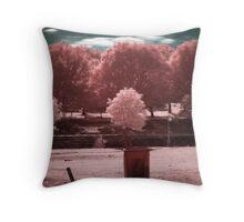 Redbud Park, Marlow, Oklahoma Throw Pillow