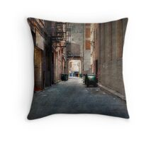 Kansas City Alley Throw Pillow