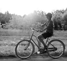 Girl on a vintage bike by olarty