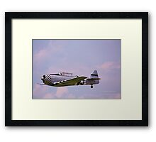 Paradise in flight WWII trainer (1) Framed Print