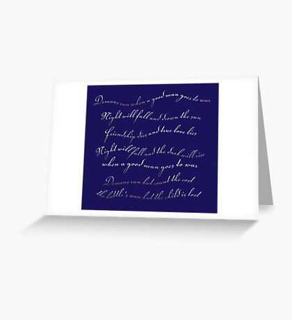 A good man goes to war Greeting Card