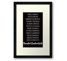 Britishguy Funnyname (White words) Framed Print