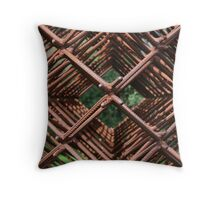Abstract Metal Throw Pillow