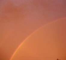 Rainbow after a summer storm by Erin Jackson