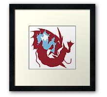 Pokemon At the Heart of Gyrados Framed Print