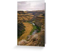 Palouse Canyon Greeting Card