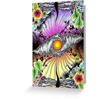Tropical Waveset Greeting Card