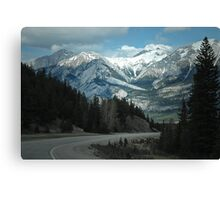 Mountains of Jasper National Park Canvas Print