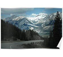 Mountains of Jasper National Park Poster