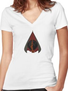 Deathly Hallows Women's Fitted V-Neck T-Shirt