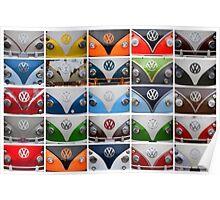 VW Multi Split screen Poster