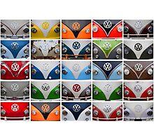 VW Multi Split screen Photographic Print