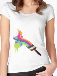 paint a rainbow Women's Fitted Scoop T-Shirt