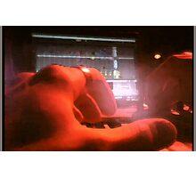 POV of a Laptop DJ Photographic Print
