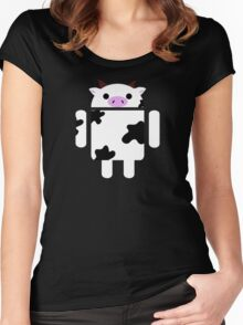 Droidarmy: Who let the cows out? Women's Fitted Scoop T-Shirt