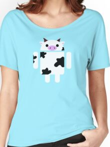 Droidarmy: Who let the cows out? Women's Relaxed Fit T-Shirt
